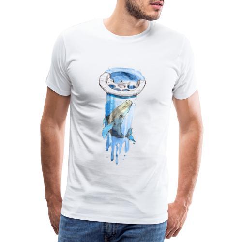 Wal im Abfluss (Whale in the Drain) - Männer Premium T-Shirt