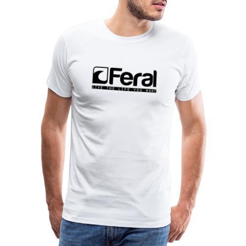 Feral Surf - Live the Life - Black - Men's Premium T-Shirt