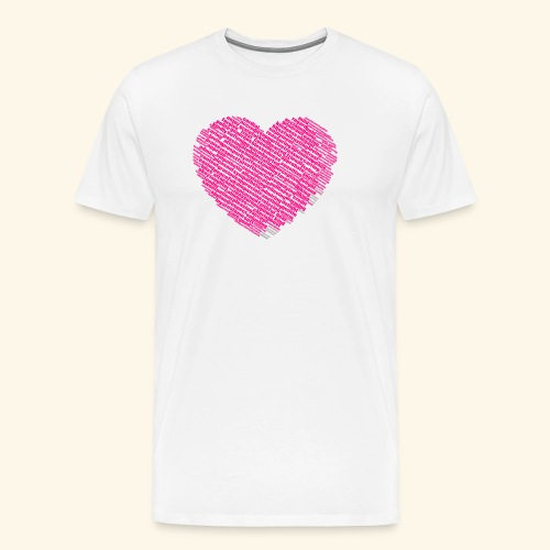 Heart shape of loving, warm and nice words cloud - Men's Premium T-Shirt