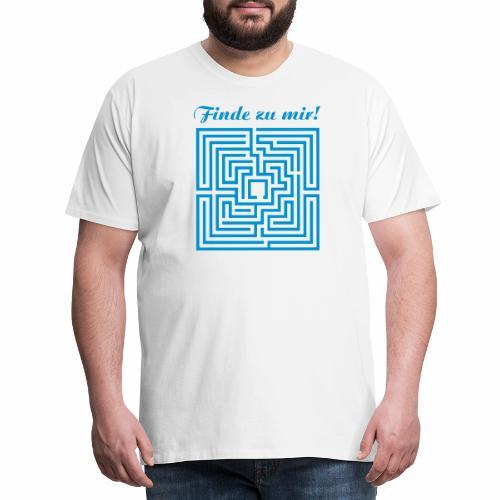 Labyrint Finde zu mir - Männer Premium T-Shirt
