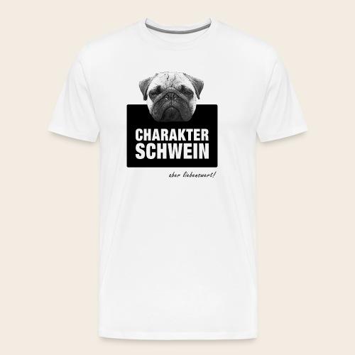 Liebenswertes Charakterschwein - Männer Premium T-Shirt
