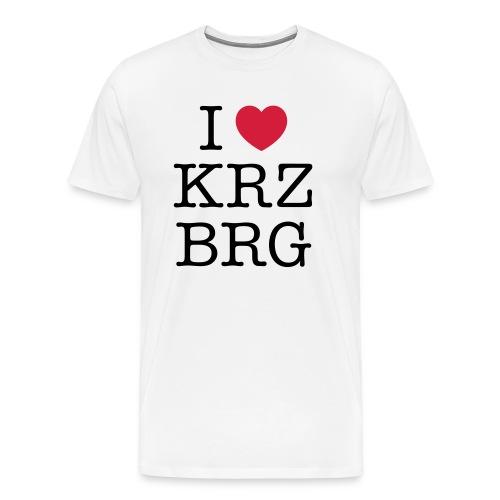 I love KRZBRG - Männer Premium T-Shirt