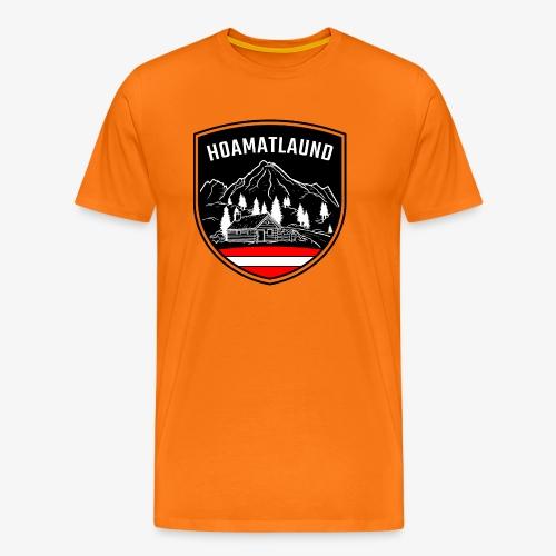 Hoamatlaund logo - Männer Premium T-Shirt