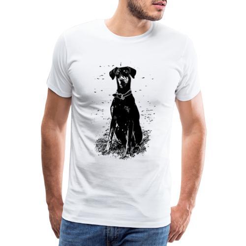 Dobermann Hunde - Männer Premium T-Shirt