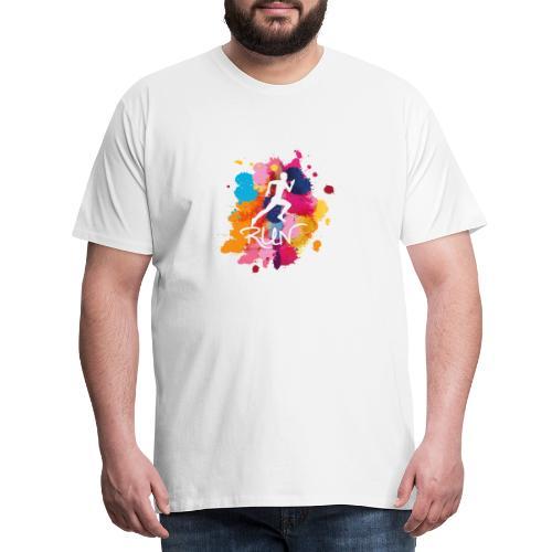 RUN Bunt - Männer Premium T-Shirt