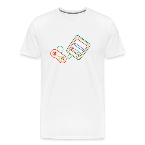 Super NES - Couleur - T-shirt Premium Homme