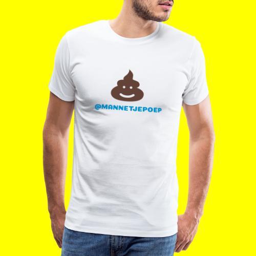 Mannetje Poep Shit - Mannen Premium T-shirt