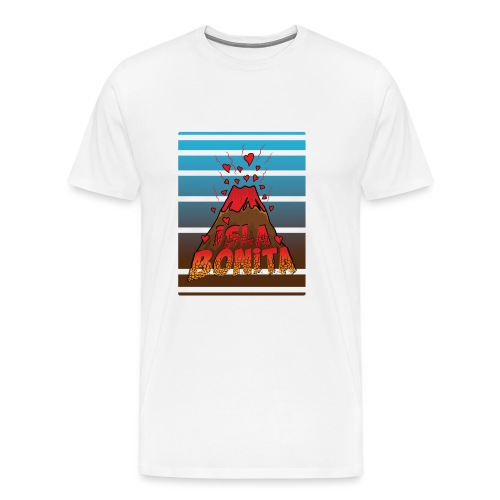 Volcan Isla bonita, La Palma, Islas Canarias. - Camiseta premium hombre