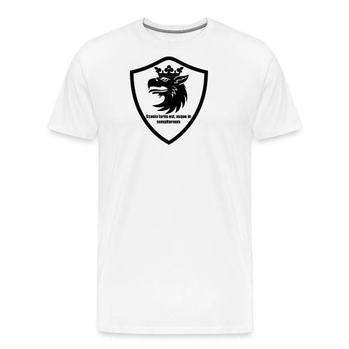 Skåne står evigt starkt, latin - Premium-T-shirt herr