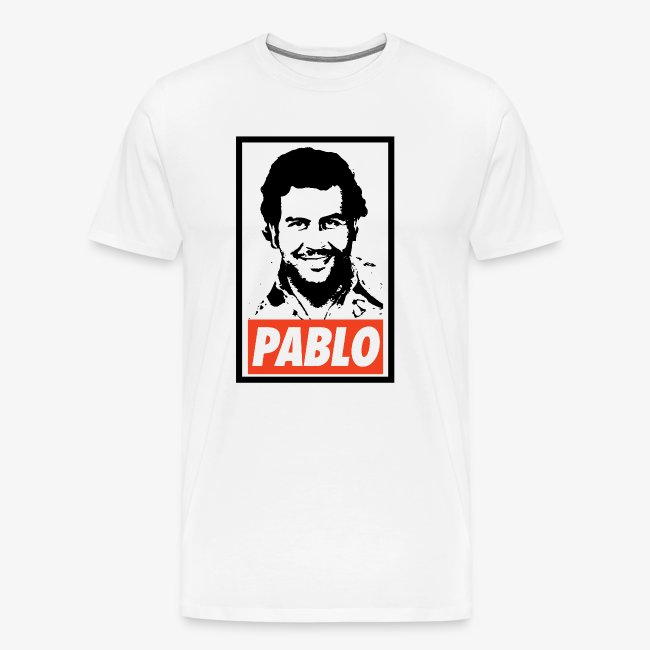T-Shop | Pablo Escobar Obey - Narcos - Men's Premium T-Shirt