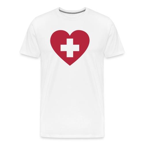 Swiss heart - Männer Premium T-Shirt