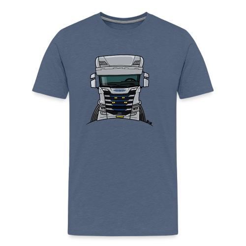0814 S truck grill wit - Mannen Premium T-shirt