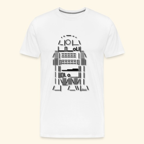 ASCII Art R2 D2 - Men's Premium T-Shirt