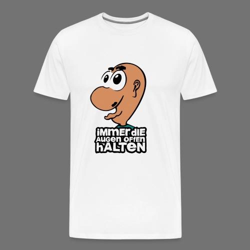 Silmät - Miesten premium t-paita