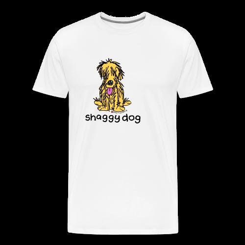 shaggy dog bang on the door - Men's Premium T-Shirt