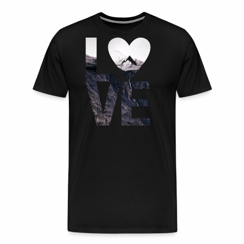 L.O.V.E - Mountains - Männer Premium T-Shirt