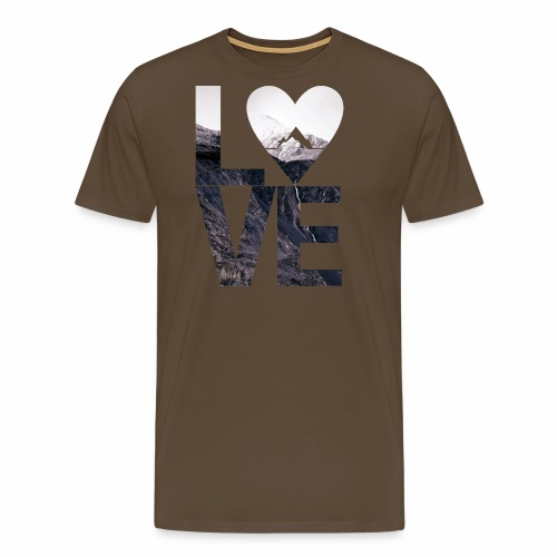 L.O.V.E - Mountains - Männer Premium T-Shirt