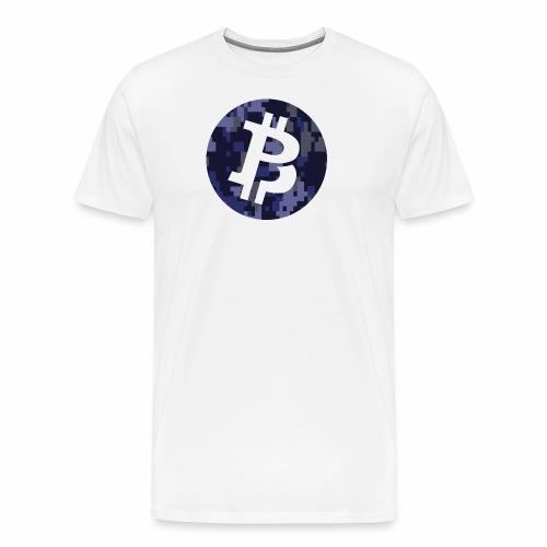 Bitcoin Private Digital Camo - Men's Premium T-Shirt