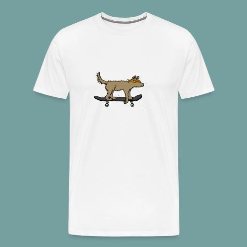 a blind dog skating - Männer Premium T-Shirt