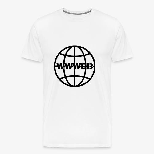 WWWeb (black) - Men's Premium T-Shirt