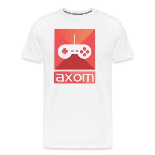 Axom Logo Vertical - Männer Premium T-Shirt