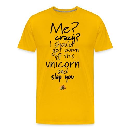 Crazy Unicorn Style (Dark) - Men's Premium T-Shirt