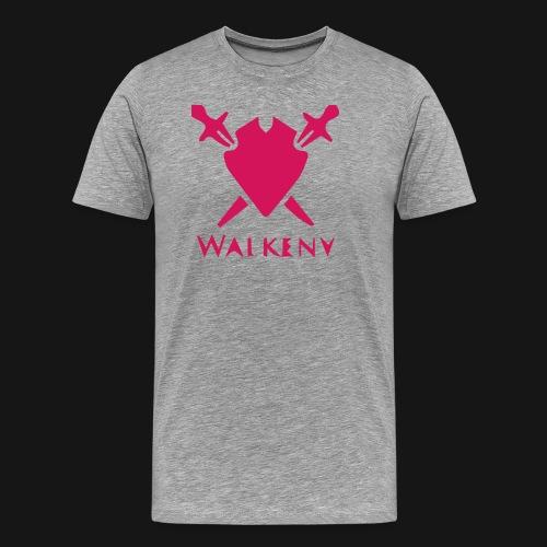 Das Walkeny Logo mit dem Schwert in PINK! - Männer Premium T-Shirt