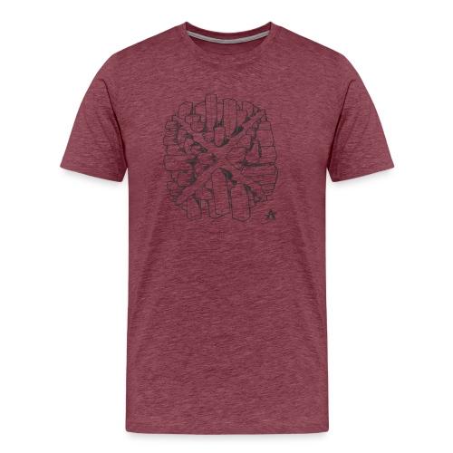 croix en perspective - T-shirt Premium Homme