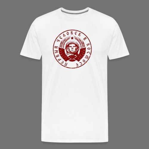 Cosmonaut 1c red (oldstyle) - Men's Premium T-Shirt