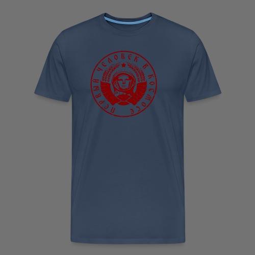 Cosmonaut 1c red (oldstyle) - Men's Premium T-Shirt
