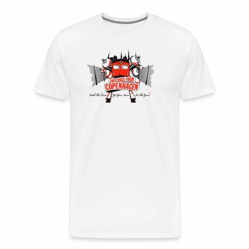 Greetings from CPH ver01 - Herre premium T-shirt
