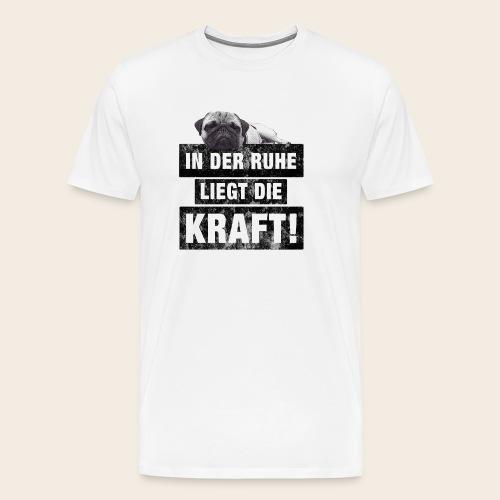 Mops Ruhe - Männer Premium T-Shirt