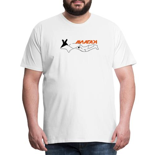 Katana motorcycle outline - Men's Premium T-Shirt