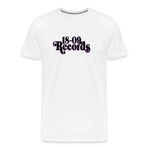 18 09 Records Text Small Canvas Black png - Men's Premium T-Shirt