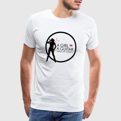 girl & guitar - Herre premium T-shirt