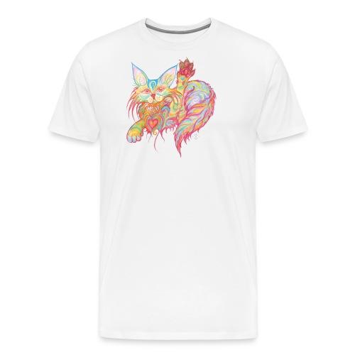 Winkekatze mit Herz - Männer Premium T-Shirt