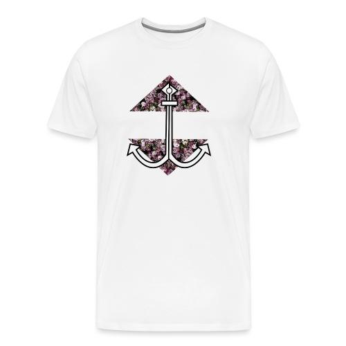 Anker mit Blumenmuster - Männer Premium T-Shirt