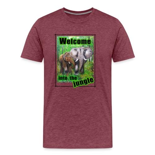 Willkommen im Dschungel - Männer Premium T-Shirt