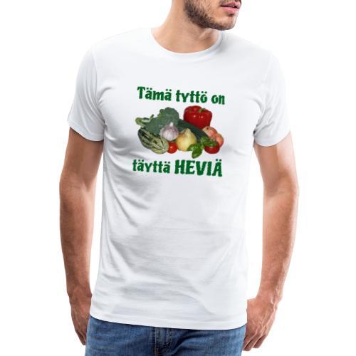 Tyttö täyttä heviä - Miesten premium t-paita