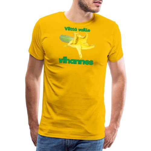 Viittä vaille vihannes, avomaankurkku - Miesten premium t-paita