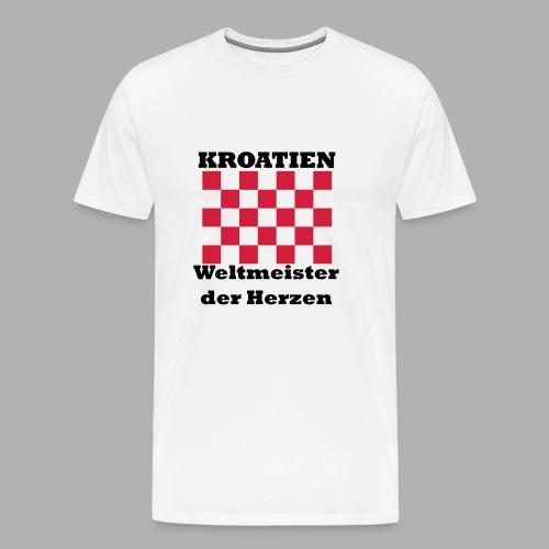 Kroatien Weltmeister der Herzen - Männer Premium T-Shirt