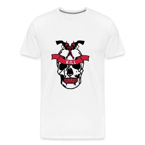 pistolet tete mort kill skull dead - T-shirt Premium Homme