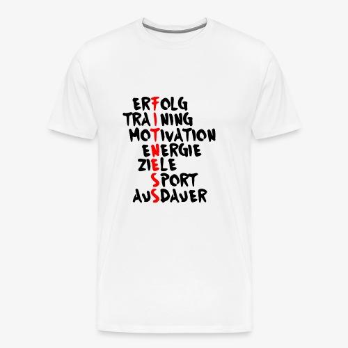 Fitness- Erfolg Training Motivation - Männer Premium T-Shirt