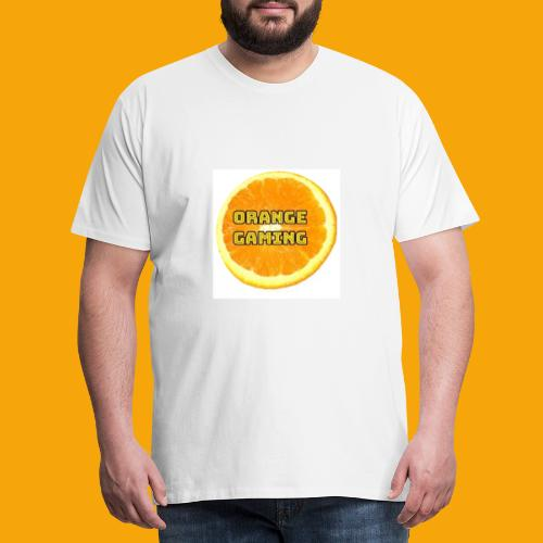 Orange_Logo_White - Men's Premium T-Shirt