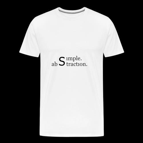 simple. abstraction. logo - Männer Premium T-Shirt