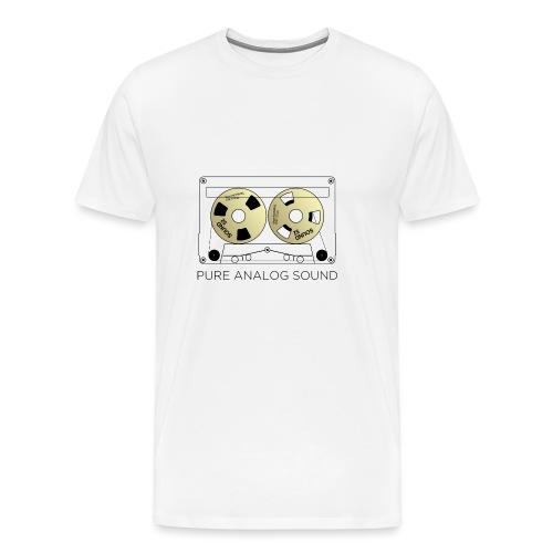Reel gold cassette white - Men's Premium T-Shirt