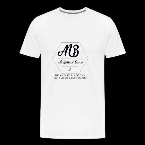 Beard Oil   Oliva Logo - Männer Premium T-Shirt