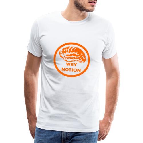 WRYNOTION Brain Logo - Männer Premium T-Shirt