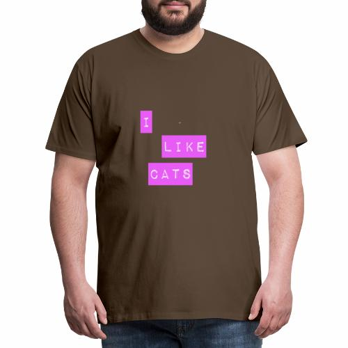 I like cats - Men's Premium T-Shirt
