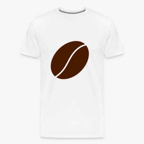 Kaffeböna - Premium-T-shirt herr